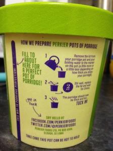 PERK!ER porridge pots are really easy to make.