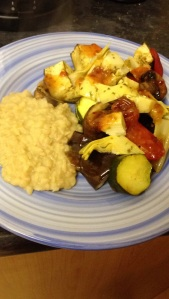Vegan Mediterranean veg and bean mash