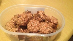 Peanut butter, fruit and nut balls - my latest creation!