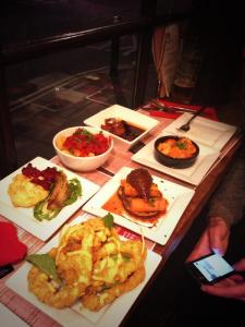 Our six main dishes at Ambiente Tapas, York.