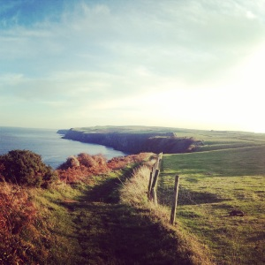 The view looking back towards Robin Hood's Bay