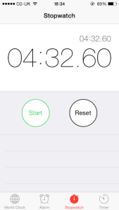Proof of Dane's 100 burpees in 4:32 after completing 150 beforehand!