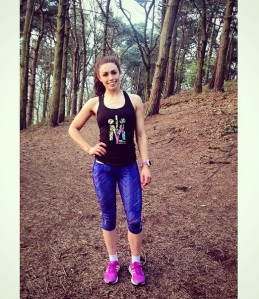 Taking a break & getting my pose on during my last hill training session before the marathon